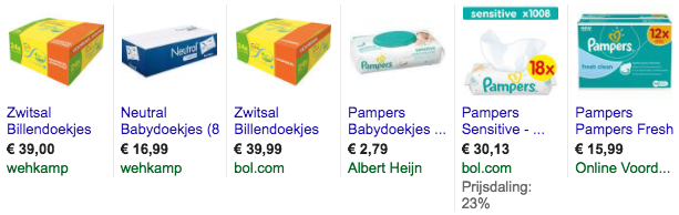 billendoekjes pampers zwitsal
